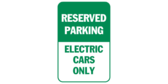 Reserved parking electric cars only