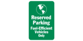 Reserved Parking Fuel Efficient World Icon