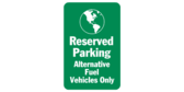 Reserved parking Alternative fuel vehicles only