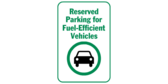 Reserved parking fuel efficient vehicles
