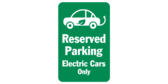 Reserved Parking Electric Car Car Icon
