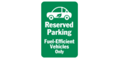 Reserved Parking Fuel Efficient Car Icon