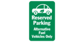 Reserved Parking for Alternative Fuel Vehicles Car