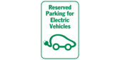 Reserved parking electric vehicles