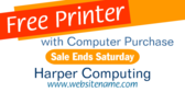 Free Printer with Computer Purchase