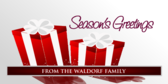 Seasons Greetings with Red Gifts