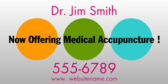 Now Offering Medical Accupuncture