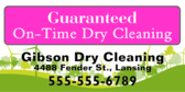 Guaranteed On Time Dry Cleaning