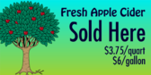 Fresh Apple Cider Sold Here