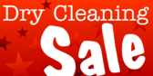 Dry Cleaning Sale Red