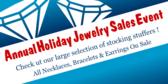Annual Holiday Jewelry Sales Event