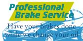 Professional Brake Service