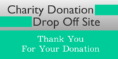 Charity Donation Drop Off Site