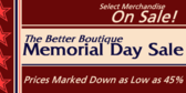 Store Memorial Day Sale With Discounts