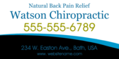 Natural Back Pain Relief Chiropractic