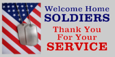 Welcome Home Service and Dogtags