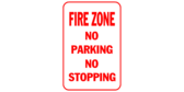 Fire zone no parking no stopping
