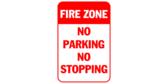 Fire Zone No Parking Or No Stopping