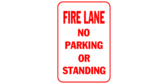 Fire lane no parking or standing