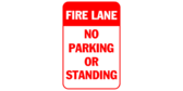 Fire Lane No Parking Standing
