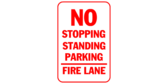 Fire Lane No Stopping Standing Parking
