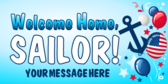 Welcome Home Sailor Balloons