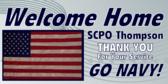 Welcome Home Navy Flag