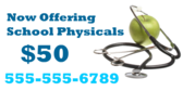 Now Offering School Physicals