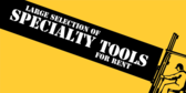 Large Selection of Specialty Tools