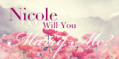 Will You Be My Wife Script