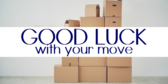 Going Away Banners | Good Luck With Your Move