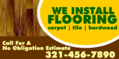 We Install Flooring, Call for Estimate