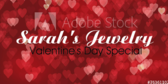 Jewelry Store Valentine's Announcement Banner