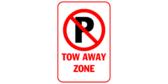 P Tow away zone