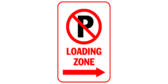 Loading zone with arrows right
