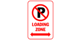 Loading zone with arrows both