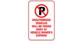 P no parking unauthorized vehicles will be towed a
