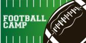 School Football Camp Banner Design