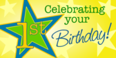 first birthday banners