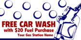Generic Gas Station Free Car Wash