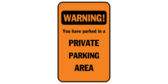 Warning you have parked in a no parking area