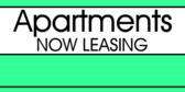 Apartment Now Leasing Green Burst Skyline