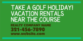 Take a Golf Holiday Vacation Rental