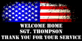 Welcome Home Sgt. Thompson