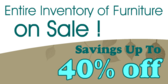 Inventory Furniture Sale