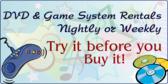 DVD & Game System Rentals