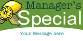 Manager's Special Message