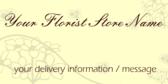 Florist Delivery Information