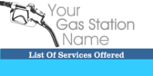 Gas Station Services Offered