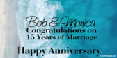 Congratulations On 15 Years Of Marriage